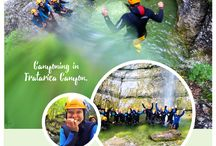Canyoning in Slovenia / Canyoning is an unforgettable experience. You will enjoy a new world, which is normally inaccessible.