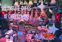 Twelve days of Christmas butchers window