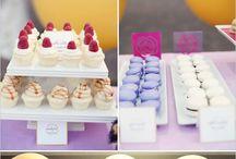 mesa dulces violeta y amarillo