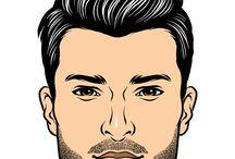 Miesten muoti, parta, houkset
