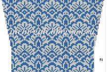 гусиные лапки / вязание схемы