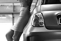 Пинап фотосессия с автомобилем