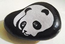 hand made painting stones