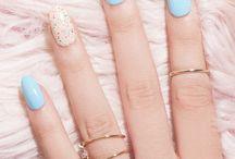 Blue gelish nails