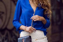 blusas azul royal