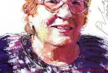 Portrait Drawings / Portrait drawings of people met by Guldenhemel.