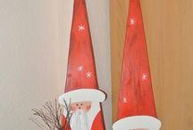 weihnachtmänner dreieckig