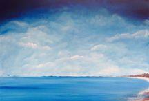 Beach (100 x 85cm) / Australian Coastline Series Original acrylic on canvas (gallery quality)  All art is copyright