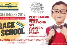 2-23 SETTEMBRE 2017 / Back to School! tantittimo capi bimbo/a & donna firmatissimi a prezzi outlet! Vi aspettiamo!