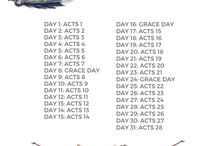 Bible Book Reading Plans
