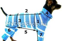 Nitting outfit for dogs