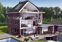 Warmtepomp systeem 3 / Variant 3: Oplossing voor een vrij staande woning (Ecodan-Cascade oplossing)