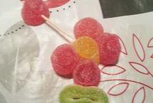 Fleurs en bonbons
