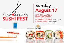 New Orleans Sushi Fest / New Orleans Magazine's Sushi Fest and Competition will feature sushi creations from restaurants around the New Orleans area.   Date: August 17 Location: River City Ballroom (upstairs) at Mardi Gras World  Cost: $50 in advance (by Aug. 6), $75 at the door  http://www.myneworleans.com/New-Orleans-Sushi-Fest/ / by New Orleans Magazine