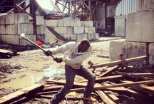 Reclaimed Wood Process / Salvaged lumber at demolition sites