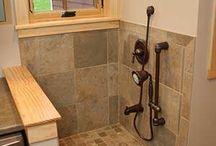 Dog utility room shower