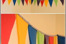 Bunting / I love bunting, it is such an easy and rune way to decorate just about anywhere. Here I am collecting inspiration.