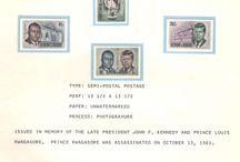 BURUNDI & CENTRAL AFRICAN REPUBLIC Stamps JFK / John F. Kennedy stamps collection of Burundi and Central African Republic.