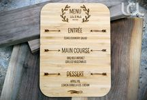 Wedding Planning and Design / Custom Wedding Menus, Signs and Accessories.