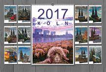 Kalender 2017 / ART Fotokalender  DIN A3   Kunst Art Kalender von Schönen Ölbilder auf Leinwand mit Blattsilber. Für die Liebhaber der Architektur und Malerei und als Geschenk gut geeignet.  Hochwertiger Qualitätsdruck glänzend Metall-Spiralbindung Foliendeckblatt Hochkant