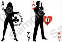 007 wedding theme playing cards