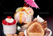 bowl, cake