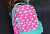 BACK to SCHOOL / Personalized bookbags | Monogrammed book bags | Personalized Lunch Boxes | Monogrammed Lunch Totes