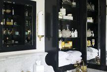 Handsome Bathrooms / Bathrooms, interior design, editorial, tile work, tubs, toilets, brass hardware, brass fixtures, nickel fixtures, chrome fixtures, marble, claw foot tub, shower enclosures, modern bathroom, traditional bathroom, French country bathroom, Spanish bathroom.