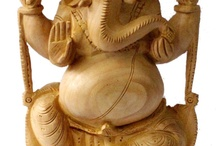 Ganesha wooden statuettes