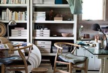 Home Office Inspiration / Inspiration for lovely workspaces and home office organisation.