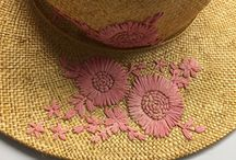 Millinery - embellished and embroidered