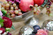 композиции фрукты-цветы
