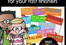 School fast finishers/activities!