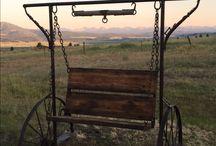Rustic Western Outdoor Swings / Very cool swings