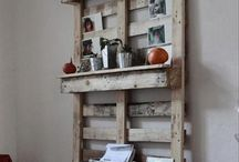 Recycled Wooden pallets.