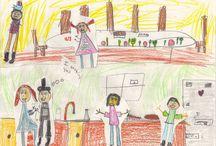 Kid Art / Artistic responses to MY NEAR-DEATH ADVENTURES.