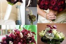 esküvői dekoráció bordó