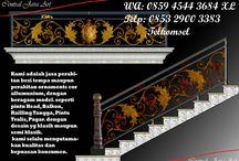 Railling tangga Klasik / http://kerajinanbesitempajakarta.blogspot.com/