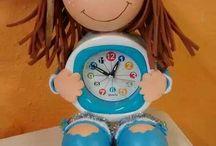 fofuchas con reloj