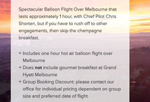 Balloon Over Melbourne Packages / Balloon Flights Over Melbourne only fly new aircraft with all new avionics equipment on board. We are the holder of Air Operator Certificate VT598425-01 issued by the Civil Aviation Safety Authority (CASA).