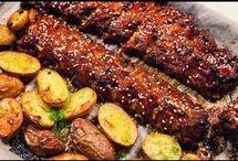 coaste de porc cu cartofii