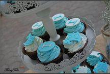 #vaftisi ideas / Ιδέες για βάφτιση σε λευκό και γαλάζιο