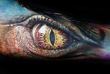 Coloured Dragon Tattoo