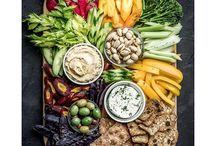 Creative Crudité Platters / Crudité platters no longer have to be an afterthought with creative serving ideas like these.  Try these arrangements with any of our Dips & Spreads.