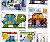 borduren/pixeldekens