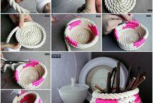 porta oggetti con corda