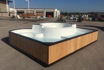 The New San Juan Fiberglass Pools Fun Deck