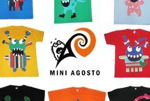 REMERAS PARA NIÑOS-SERIE MONS // MINI AGOSTO