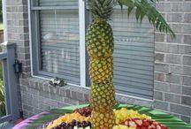 Decoração mesa frutas