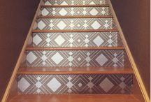 STAIRWAY LOVE / Your staircase and stairway doesn't have to be overlooked when creating a inviting space.  Check out how Tempaper uses, added a little bit of removable wallpaper and pattern to their spaces!